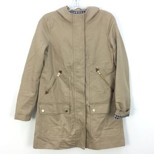 J. Crew Khaki Chateau Trench Coat